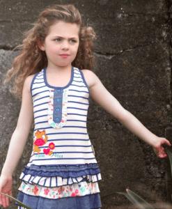 """Dívka v letních šatičkách """"Leopardí proužky"""" CRLD"""