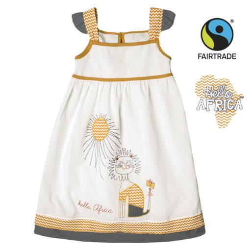 Letní Fairtrade šatičky - Slunící se lvice - HASL