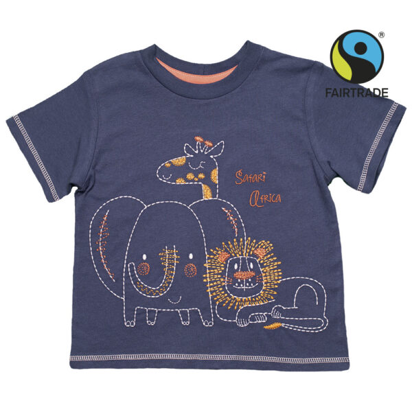 Tričko pro kluky Safari trio. Fairtrade