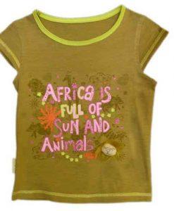 """Holčičí tričko """"Afrika plná zvířat"""""""