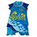 """Plážový obleček """"Žirafy v moři - modrý"""""""