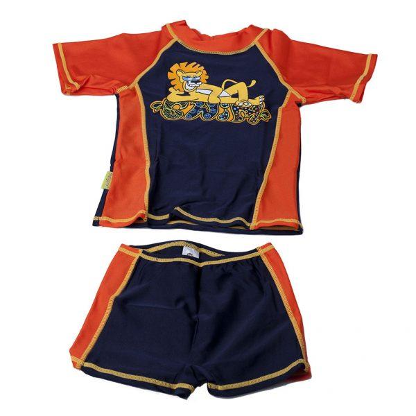 """Plážový obleček """"Lev na pláži - oranžový"""""""