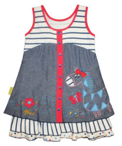 "Šaty ""Zebra v Africe"""