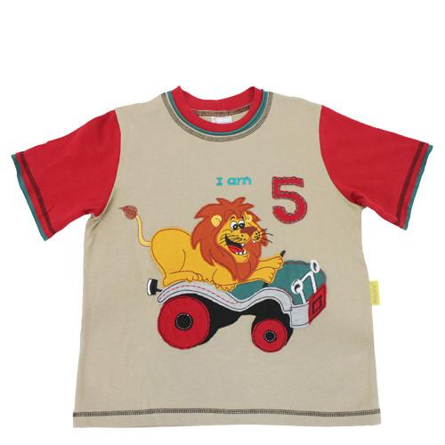 """Narozeninové tričko """"Je mi pět"""""""